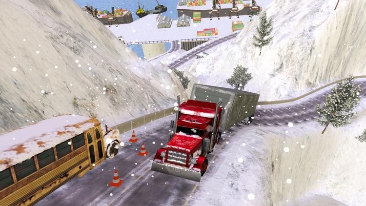Grand Snow Truck Simulator : Cargo Truck Driver 3D screenshot-3
