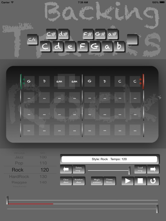 Rock Backing Tracks Creator Pro screenshot-3