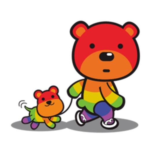 Lovely Rainbow Bear Sticker