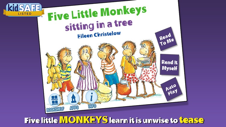Five Little Monkeys Sitting in a Tree screenshot-0