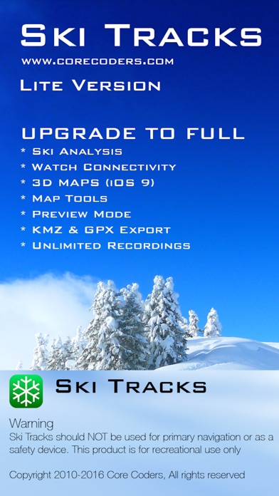 Ski Tracks Lite review screenshots