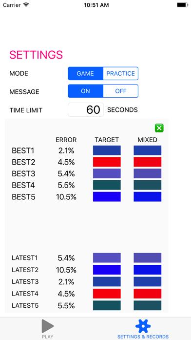 CMY-Color-Mix Training screenshot three