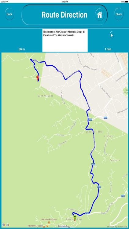 Amalfi Coast Offiline Map Navigation ( E Maps)