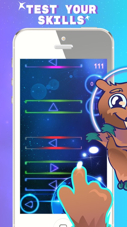 Space Beaver: Fast reaction game with gesture
