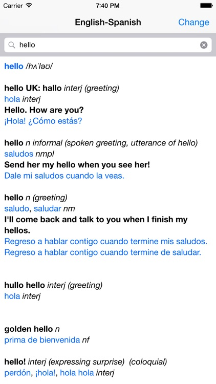 Spanish – English Dictionary