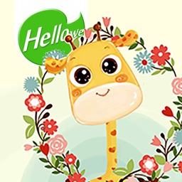 Hellowe Stickers: Giraffe