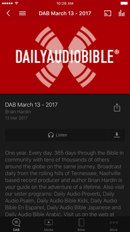 Daily Audio Bible App