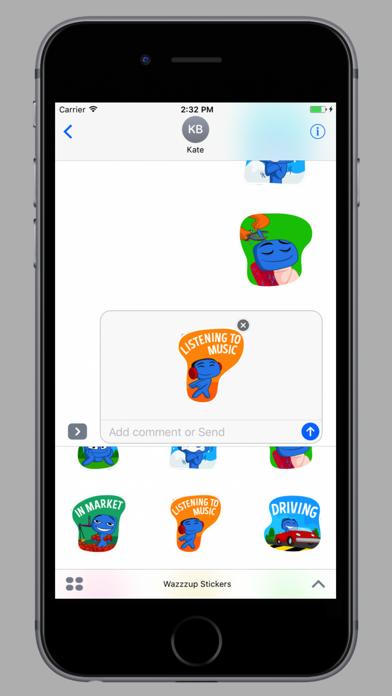 Screenshot #1 pour Wazzzup Stickers