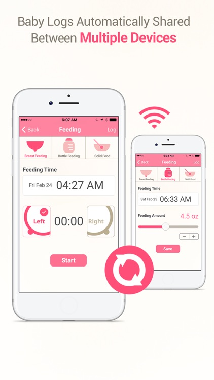 MammaBaby - Breast feeding App & Baby Log Tracker screenshot-1