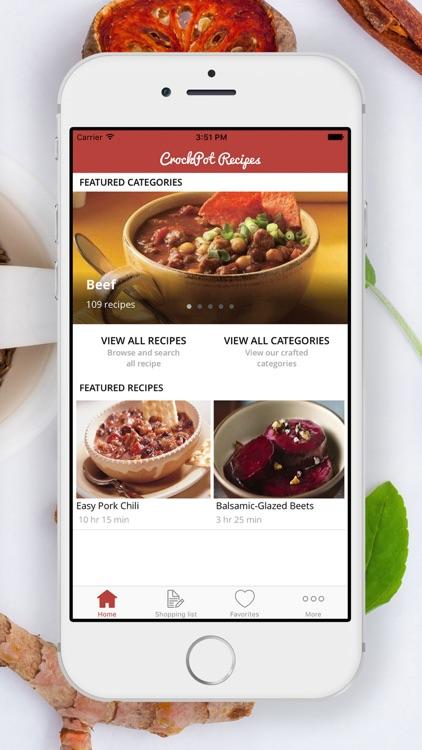 Simple Crockpot Recipes   Shopping List