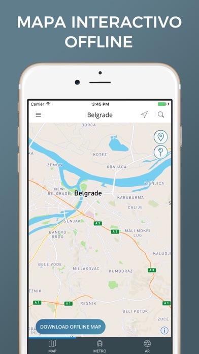 Belgrado - Mapas de la ciudadCaptura de pantalla de1