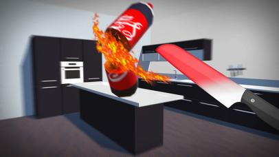 Bottle Flip vs Glowing Hot Knife Simulator Screenshot