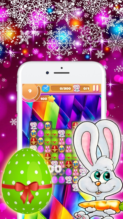 Easter Eggs Bunny Match Game For Family & Friends