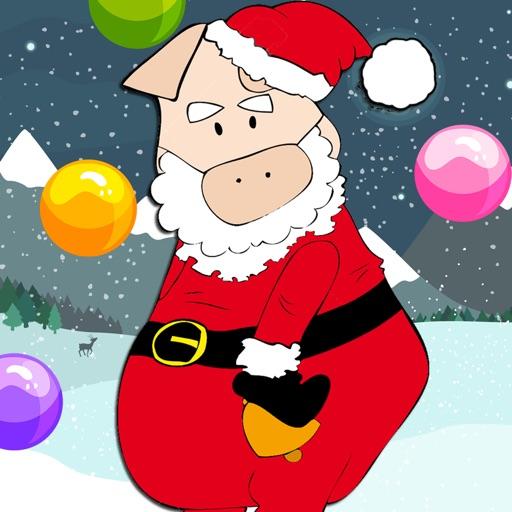 Santa Pappy Pig Bubble Shooter Game iOS App