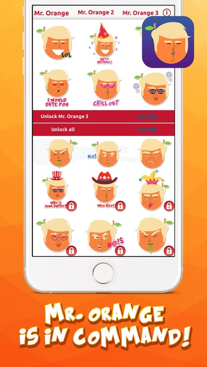 Mr. Orange in Charge – Stickers for iMessage screenshot-4