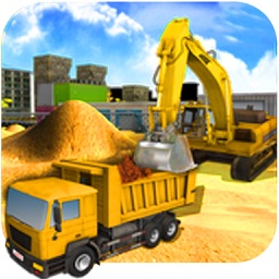 Heavy Excavator Crane Simulator 3D Construction
