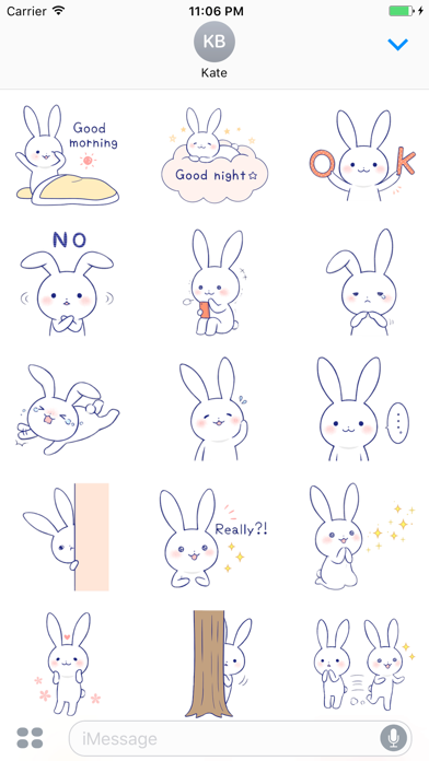 Zinnia The Lovely Rabbit English Stickers screenshot one