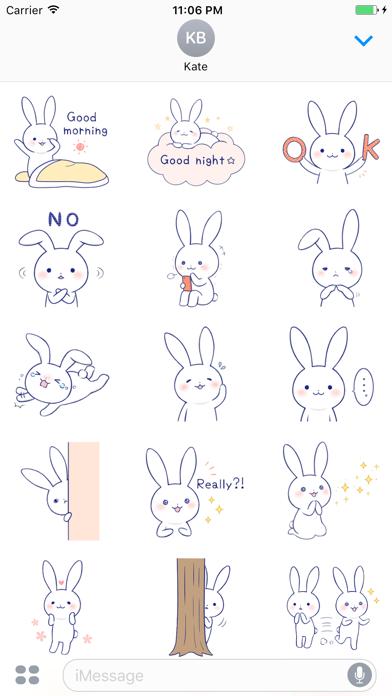 Zinnia The Lovely Rabbit English Stickers screenshot one