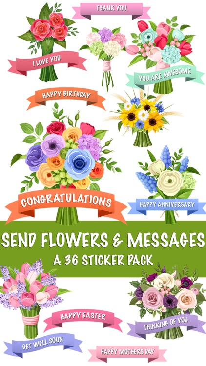 Send Flowers Messages Sticker Pack By Veritas Design Group