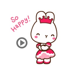 Grace Rabbit animated stickers