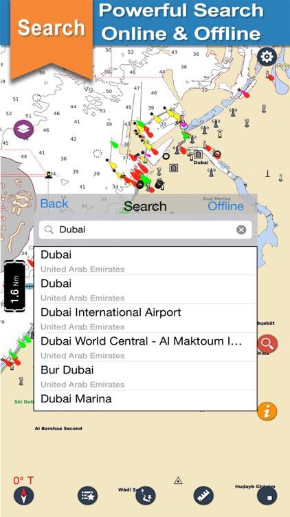 Boating Dubai Nautical charts
