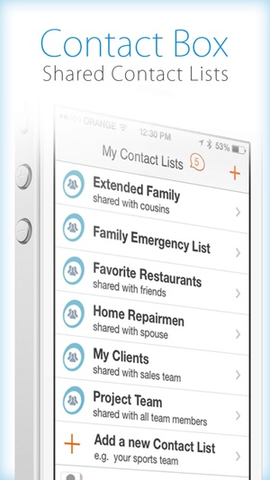 Contactbox  Sharing Contacts On The App Store