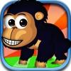 スーパースウィンギング·キングチンパンジーのジャングルモンキージャンプ