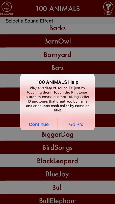 100ANIMALS + RINGTONES Animal Ring Tone Sounds screenshot four