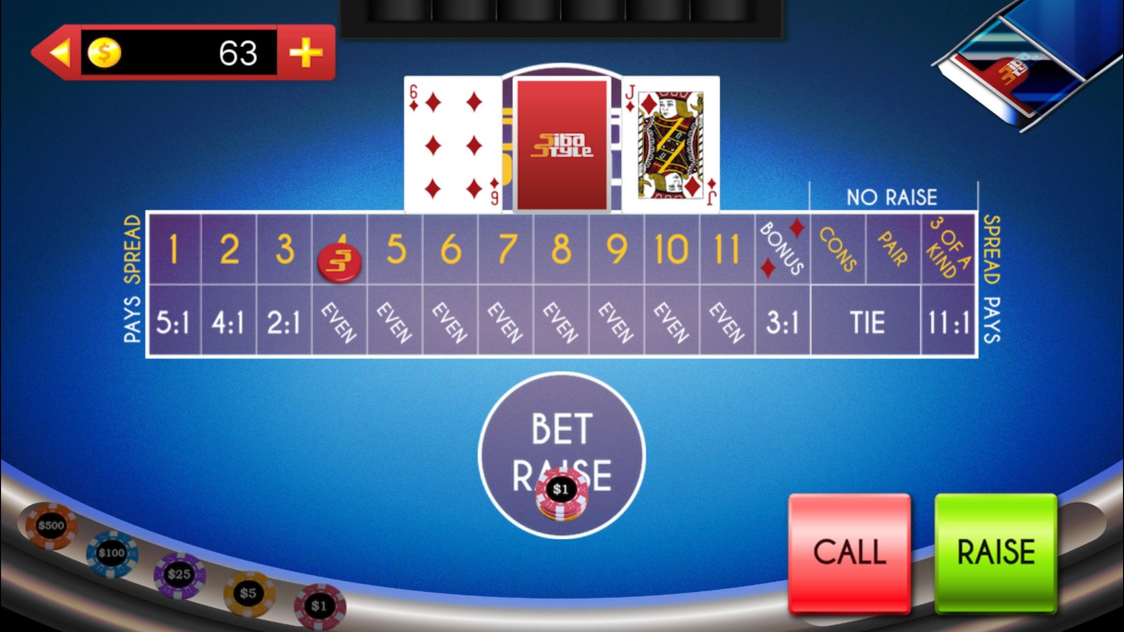 Casino Games: Let It Ride On, 3 Card Poker & More Screenshot