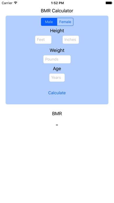 BMR Calculator - Basal Metabolic Rate Calc Resting screenshot three