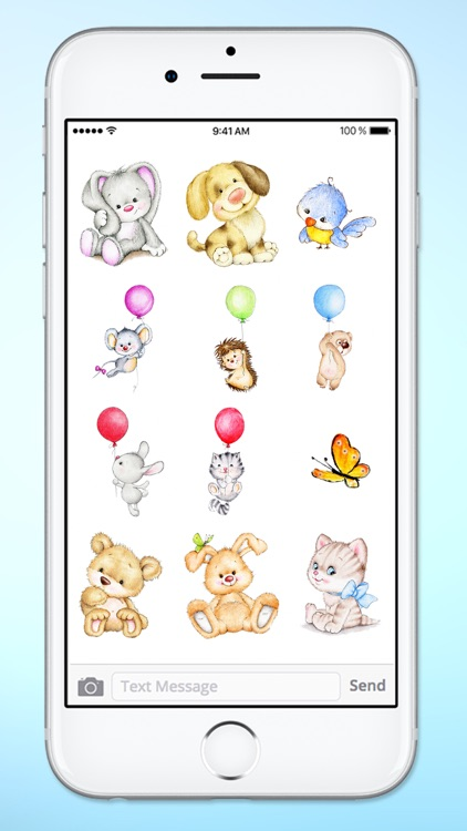 Cute Baby Animals Easter and Spring Sticker Pack screenshot-3