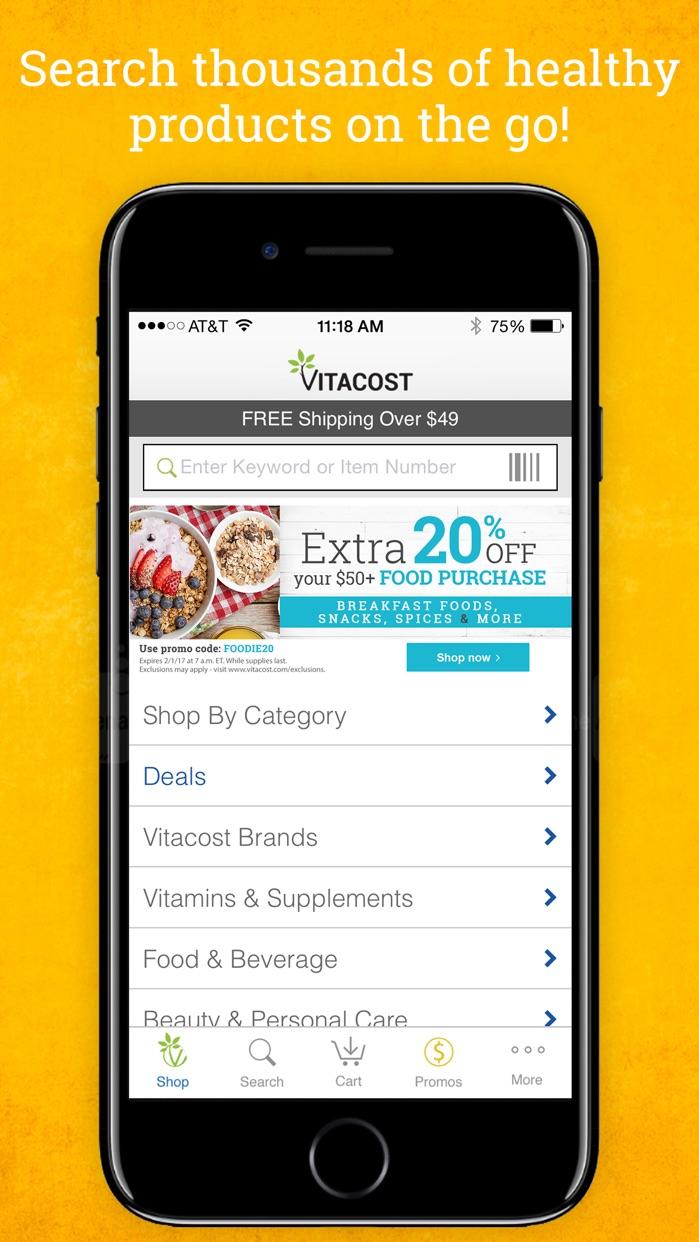 Vitacost Screenshot