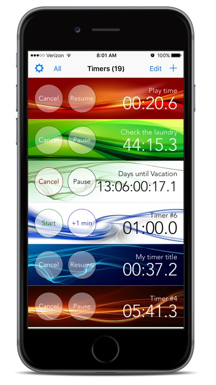 Timers M - A Multiple Timers App