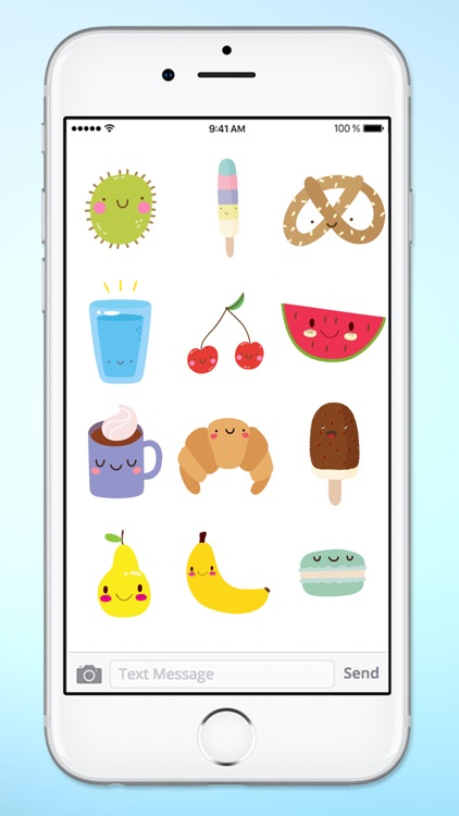 Super Cute Food Sticker Pack screenshot-4