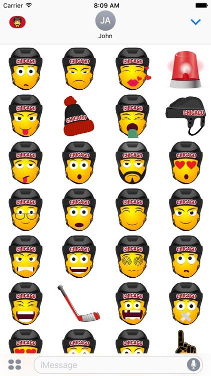 Chicago Hockey Stickers & Emojis screenshot-3