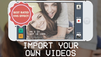 RAD VHS Camera Effects - Retro Video Camcorder app image