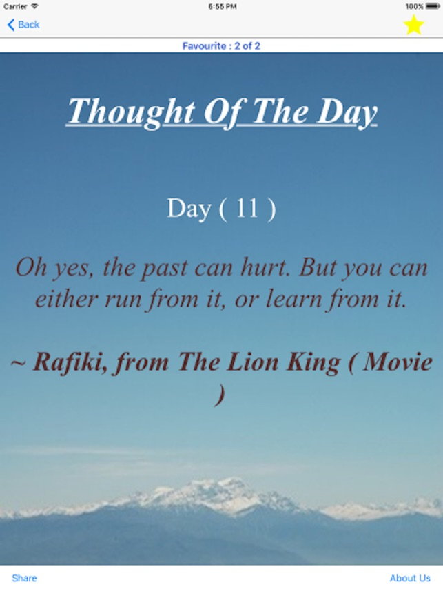 Totd Thought Of The Day On The App Store