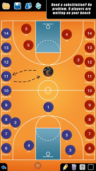 Screenshot for Coach Tactic Board: Basket in Qatar App Store