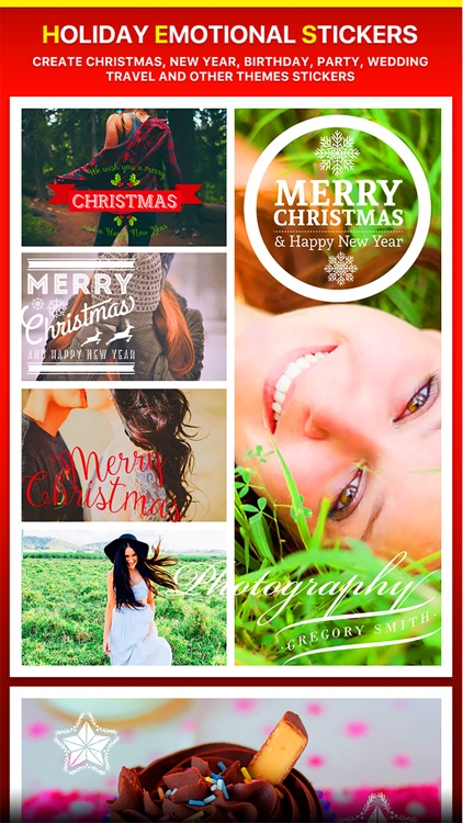 Merry Christmas Collage - Typography Captions