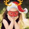 Snap Santa Face -Cute Emoji, Stickers, Santa Faces