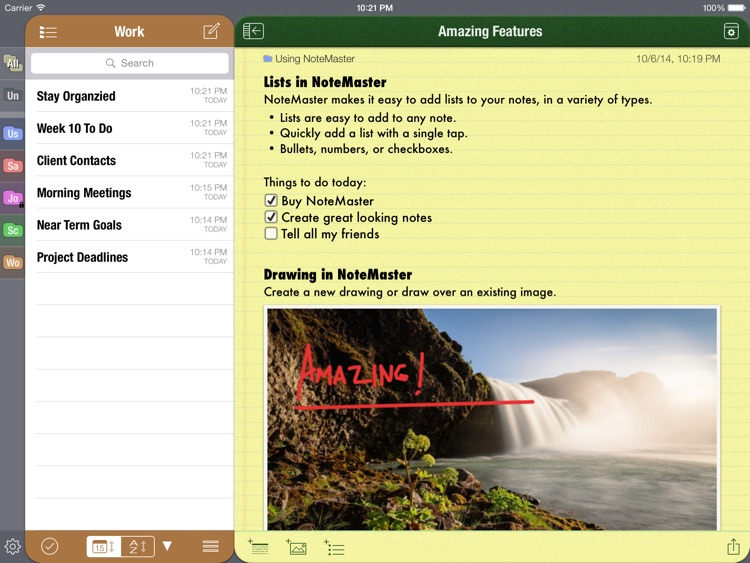 NoteMaster for iPad - amazing notes