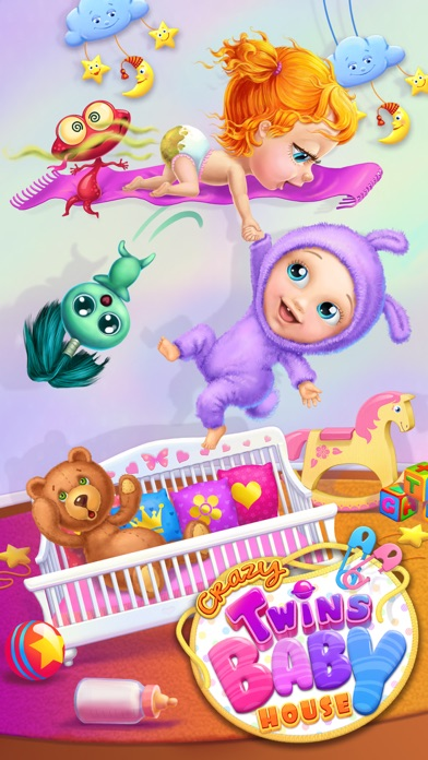Crazy Twins Baby House - No Ads screenshot 1