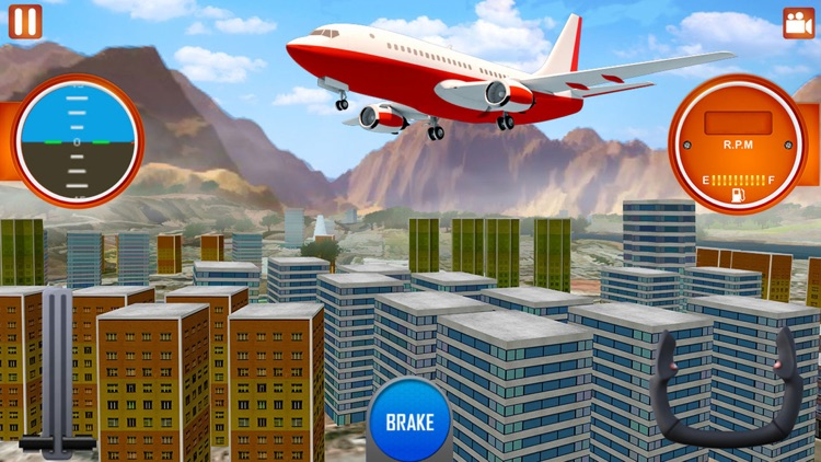 Airplane Flying City Tour - Real Flight Simulator by