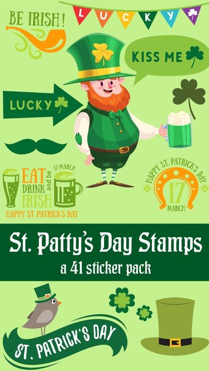 St Pattys Day Stamps Sticker Pack