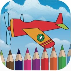 çocuk Oyunları Için Gökyüzü Uçak Boyama Kitabı App Storeda