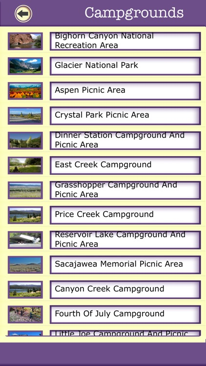 Montana Campgrounds & Hiking Trails,State Parks