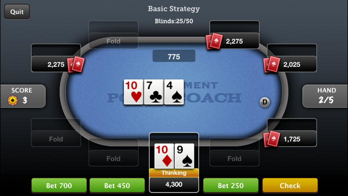 Tournament Poker Coach Screenshot