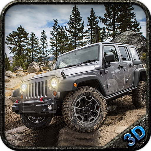 Off road 4x4 jeep: Mountain hill drive