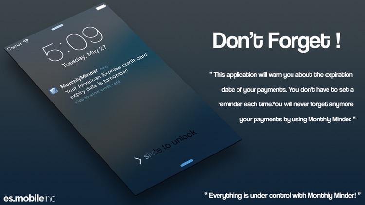 "BillMinder - ""Payment Reminder"" screenshot-4"