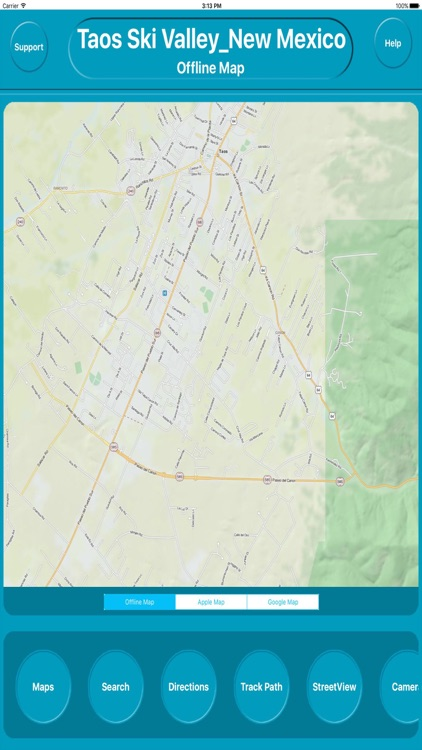 Ski In New Mexico Map.Taos Ski Valley New Mexico Offline Maps Navigation By Egate It